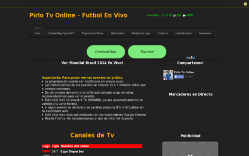 Access pirlotv.tv using Hola Unblocker web proxy