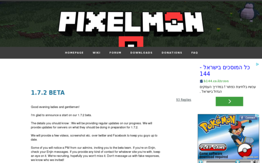 Access pixelmonmod.com using Hola Unblocker web proxy