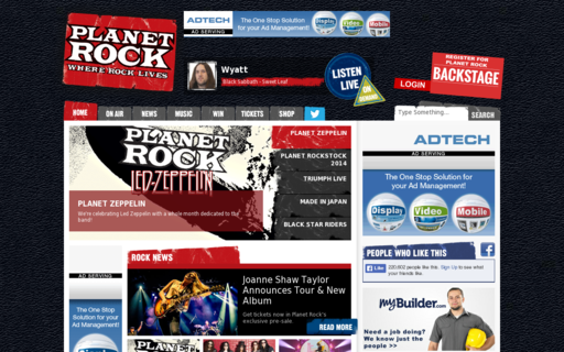 Access planetrock.com using Hola Unblocker web proxy