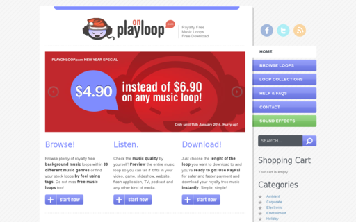 Access playonloop.com using Hola Unblocker web proxy