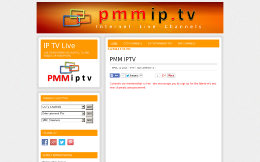 Access pmmip.tv using Hola Unblocker web proxy