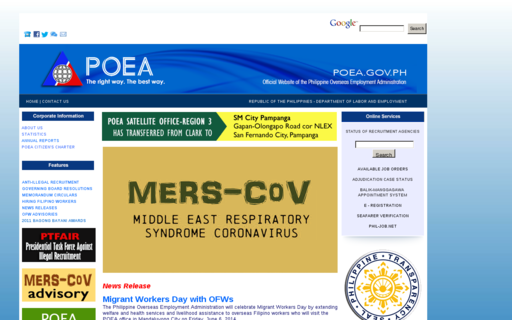 Access poea.gov.ph using Hola Unblocker web proxy