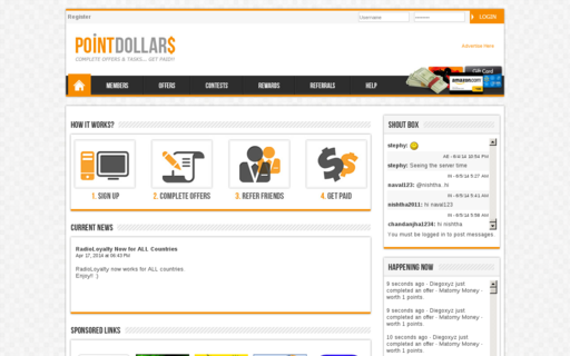Access pointdollars.com using Hola Unblocker web proxy