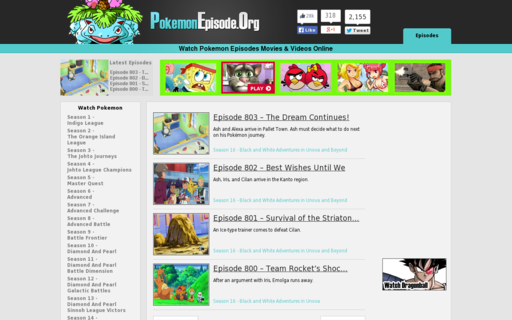 Access pokemonepisode.org using Hola Unblocker web proxy