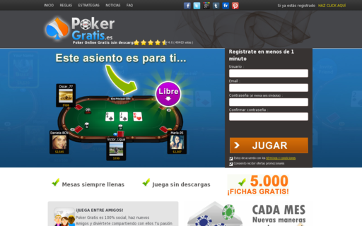 Access pokergratis.es using Hola Unblocker web proxy
