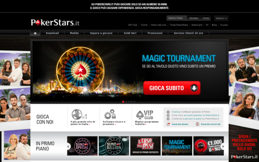 Access pokerstars.it using Hola Unblocker web proxy
