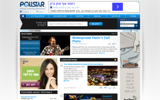 Access pollstar.com using Hola Unblocker web proxy