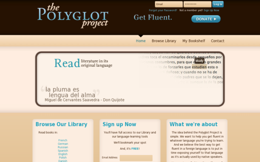 Access polyglotproject.com using Hola Unblocker web proxy