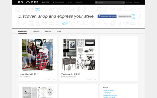 Access polyvore.com using Hola Unblocker web proxy