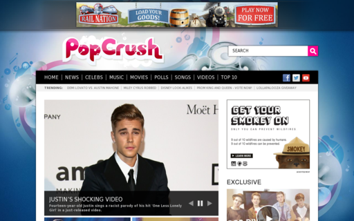 Access popcrush.com using Hola Unblocker web proxy