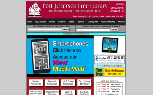 Access portjefflibrary.org using Hola Unblocker web proxy