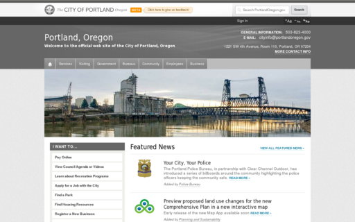 Access portlandoregon.gov using Hola Unblocker web proxy