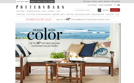 Access potterybarn.com using Hola Unblocker web proxy