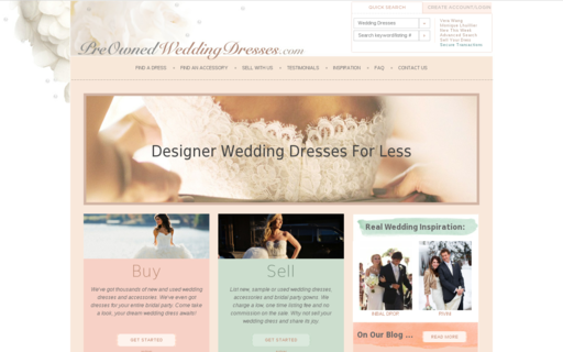 Access preownedweddingdresses.com using Hola Unblocker web proxy