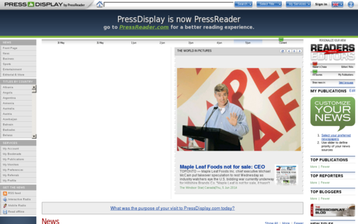 Access pressdisplay.com using Hola Unblocker web proxy