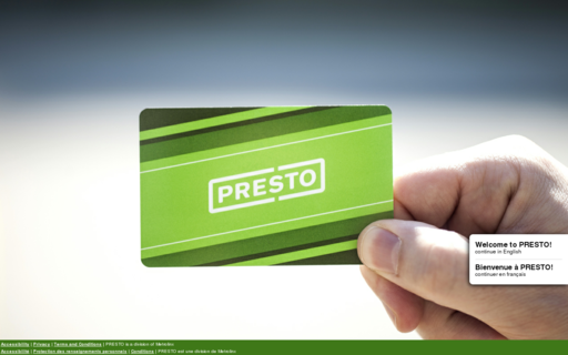 Access prestocard.ca using Hola Unblocker web proxy