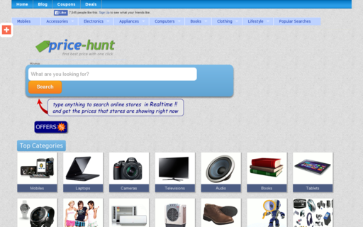 Access price-hunt.com using Hola Unblocker web proxy