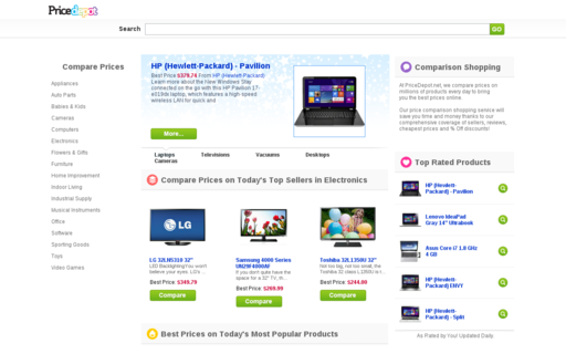 Access pricedepot.net using Hola Unblocker web proxy