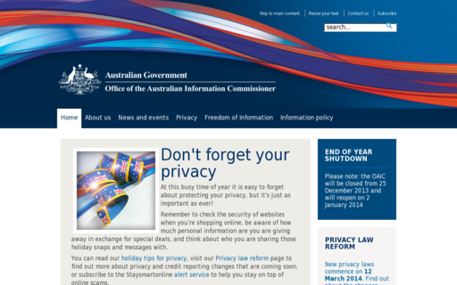 Access privacy.gov.au using Hola Unblocker web proxy