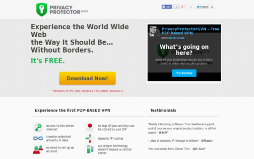 Access privacyprotector.eu using Hola Unblocker web proxy