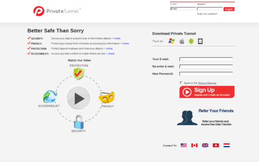 Access privatetunnel.com using Hola Unblocker web proxy