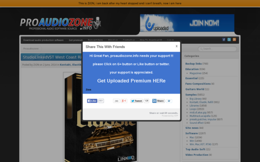 Access proaudiozone.info using Hola Unblocker web proxy