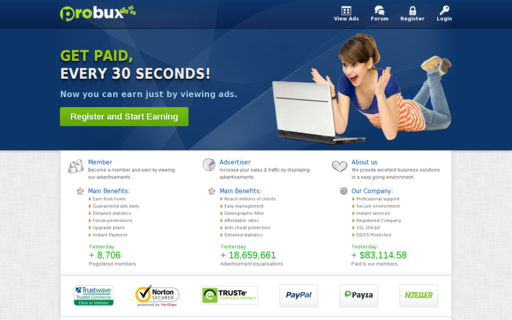 Access probux.com using Hola Unblocker web proxy