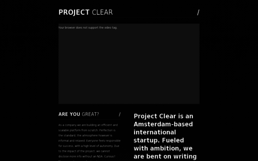 Access projectclear.nl using Hola Unblocker web proxy