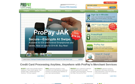Access propay.com using Hola Unblocker web proxy