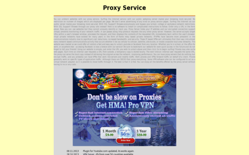 Access proxy-service.de using Hola Unblocker web proxy