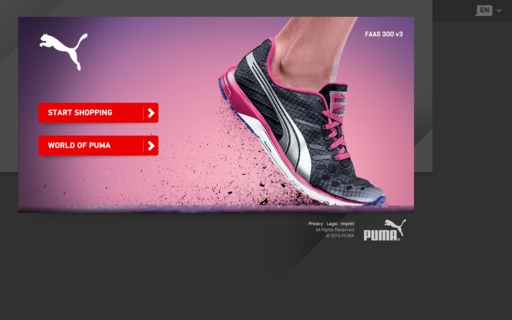 Access puma.com using Hola Unblocker web proxy
