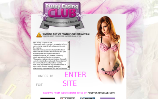Access pussyeatingclub.com using Hola Unblocker web proxy