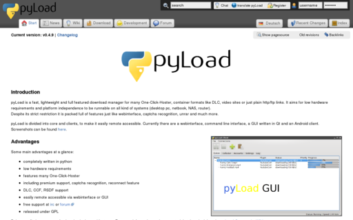 Access pyload.org using Hola Unblocker web proxy