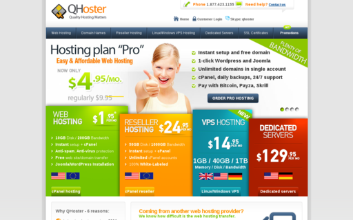 Access qhoster.com using Hola Unblocker web proxy