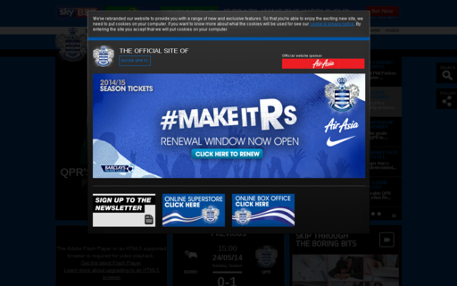 Access qpr.co.uk using Hola Unblocker web proxy
