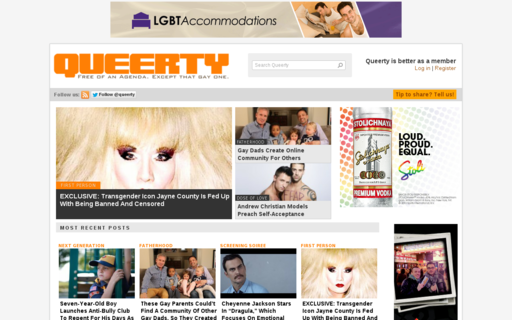 Access queerty.com using Hola Unblocker web proxy
