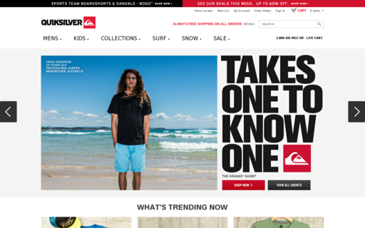 Access quiksilver.com using Hola Unblocker web proxy