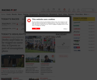 Access racingpost.com using Hola Unblocker web proxy