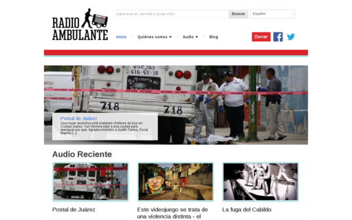 Access radioambulante.org using Hola Unblocker web proxy