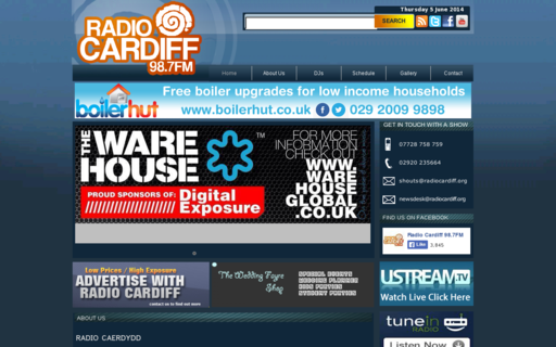 Access radiocardiff.org using Hola Unblocker web proxy