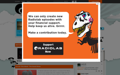 Access radiolab.org using Hola Unblocker web proxy