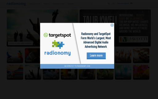 Access radionomy.com using Hola Unblocker web proxy