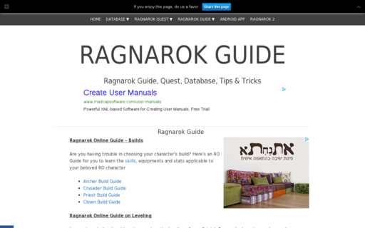 Access ragnarok-guide.com using Hola Unblocker web proxy