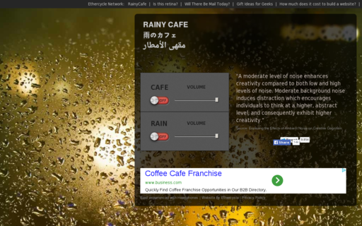 Access rainycafe.com using Hola Unblocker web proxy
