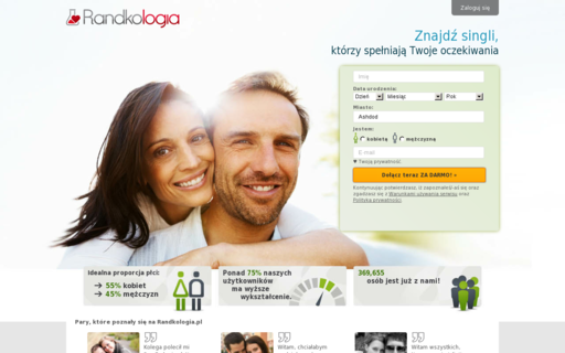 Access randkologia.pl using Hola Unblocker web proxy