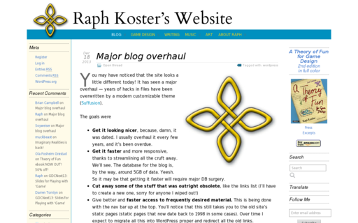 Access raphkoster.com using Hola Unblocker web proxy