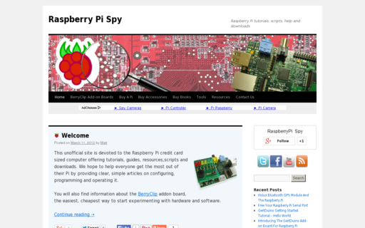 Access raspberrypi-spy.co.uk using Hola Unblocker web proxy