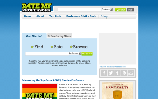 Access ratemyprofessors.com using Hola Unblocker web proxy