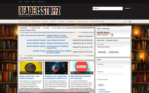 Access readersstuffz.com using Hola Unblocker web proxy