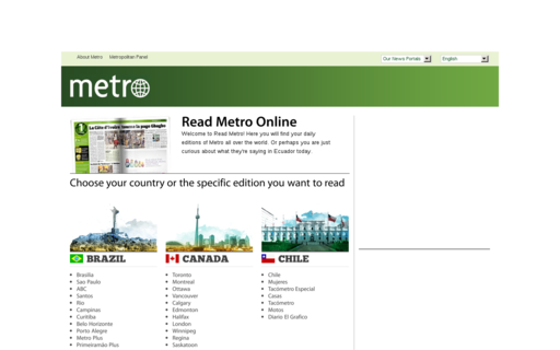 Access readmetro.com using Hola Unblocker web proxy
